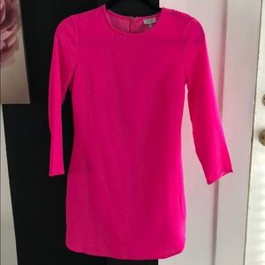 Hot pink long sleeve dress